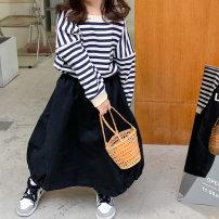 skirt 90cm, 110cm, 120cm, 130cm, 140cm, 150cm, 100cm (model size) black Other / other female Other 100% spring and autumn skirt Korean version Solid color Princess Dress other other