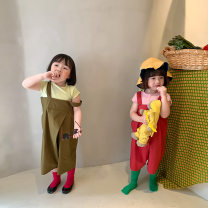 trousers Other / other neutral 80cm,90cm,100cm,110cm,120cm,130cm Red, green spring and autumn Ninth pants Korean version There are models in the real shooting rompers other Don't open the crotch Class B Chinese Mainland