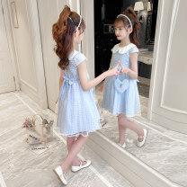 Dress Blue (for model bag) pink (for model bag) female Shun Yi Bei Er 110cm 120cm 130cm 140cm 150cm 160cm Cotton 95.3% polyester 4.7% Korean version Petticoat lattice cotton A-line skirt ctf2101 Class B