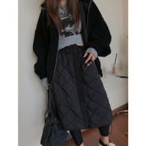 skirt Winter 2020 S,M,L black Mid length dress street High waist High waist skirt Solid color Type H 18-24 years old Q20415 skirt 81% (inclusive) - 90% (inclusive) Chen Dingding cotton
