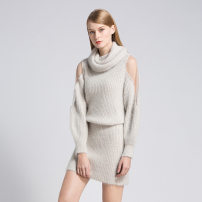 Wool knitwear Winter 2020 Average size White, off white, pink, sapphire blue, light blue, brownish green, off apricot * new one line collar, grass green * new one line collar, top white, top blue, top light apricot Long sleeves singleton  Socket cotton 71% (inclusive) - 80% (inclusive) street Socket