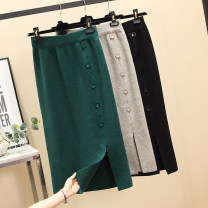 Women's large Autumn of 2019 skirt singleton  commute easy moderate Korean version other Three dimensional cutting AITI 25-29 years old Button Medium length Other 100% Pure e-commerce (online only)