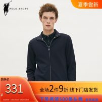 Sweater Business gentleman Polo Sport Tibetan green S,M,L,XL,2XL,3XL Solid color Cardigan routine stand collar spring easy leisure time youth American leisure routine 93F421051 other Cotton 63% polyester 33% polyurethane elastic fiber (spandex) 4% simple style  zipper