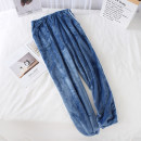 Pajamas / housewear Other / other Women's striped trousers powder, women's striped trousers Navy, women's striped trousers dark red, women's striped trousers dark gray, men's striped trousers oxygen blue, men's striped trousers Navy, men's striped trousers dark gray M,L,XL lovers trousers thickening