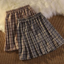 skirt Spring 2021 M L XL Reddish brown, purple blue Short skirt commute High waist A-line skirt lattice Type A 18-24 years old KTFD184 51% (inclusive) - 70% (inclusive) Kotaff polyester fiber Korean version Polyester 65% Cotton 30% polyurethane elastic fiber (spandex) 5% Exclusive payment of tmall