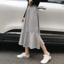skirt Spring 2021 S M L Grey black Mid length dress commute High waist Pleated skirt Solid color Type A 18-24 years old KTFD488 More than 95% Kotaff polyester fiber fold Korean version Polyester 100% Pure e-commerce (online only)