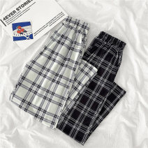 Casual pants M L XL XXL Spring 2021 trousers Wide leg pants High waist commute routine 18-24 years old 96% and above Yunshao other Korean version pocket Polyester 95% polyurethane elastic fiber (spandex) 5% Pure e-commerce (online only)