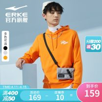 Sportswear / Pullover M (adult) l (adult) XL (adult) 2XL 3XL 4XL Erke / hongxingerke Bright light grey zhenghei plain orange male Socket Hood Spring 2021 pattern Sports & Leisure Sports life no Pure e-commerce (online only)