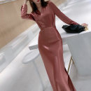 Fashion suit Summer 2021 S M L XL Two piece set in dark green and two piece set in pink Over 35 years old LAN daimi's Poems P9022 51% (inclusive) - 70% (inclusive) polyester fiber Other 100% Pure e-commerce (online only)