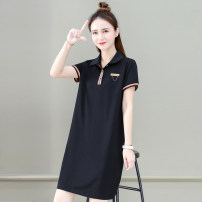 T-shirt Black grey red M L XL 2XL 3XL Summer 2021 Short sleeve Polo collar easy Medium length routine commute cotton 96% and above 25-29 years old Korean version youth Solid color Tamanyan tmy-yms-5536 Printed stitching button Cotton 95.8% polyurethane elastic fiber (spandex) 4.2%