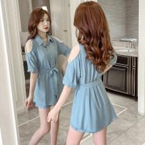 Fashion suit Bilo frog 121156  Summer 2021 Other 100% Pure e-commerce (online sales only) Blue white S M L XL