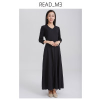 Dress Autumn of 2019 black S M longuette 25-29 years old READ_ ME More than 95% wool Wool 100% Same model in shopping mall (sold online and offline)