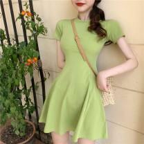 glove spandex Black dress pink dress green dress S M L Yinglu Poetry Summer 2021