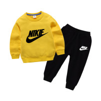 suit 2 pieces Condom children Learning reward 12 months, 18 months, 2 years old, 3 years old, 4 years old, 5 years old, 6 years old, 7 years old, 8 years old, 9 years old, 10 years old, 11 years old, 12 years old, 13 years old, 14 years old Trend Nike neutral spring and autumn Solid color motion