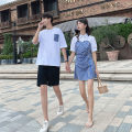 T-shirt Youth fashion Girls' dress, boys' one piece [one piece top] boys' suit [top + pants] routine XXL S M L XL 3XL Silk fiber Short sleeve Crew neck easy Other leisure summer nn-8152 Other 100% teenagers routine tide Summer 2021 other other Fashion brand Pure e-commerce (online only)