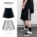 Casual pants Australian luxury Youth fashion Light grey black M L XL 2XL routine Shorts (up to knee) Other leisure easy Micro bomb a21ASZXEK30zx24 summer youth tide 2021 Medium low back Straight cylinder Other 100% Sports pants Arrest line No iron treatment Solid color Roman cloth Summer 2021