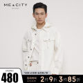 Jacket Me&City Fashion City 165/88A 170/92A 175/96A 180/100A 185/104B routine standard Other leisure Four seasons Cotton 100% Long sleeves Wear out Hood youth routine Single breasted washing Closing sleeve Solid color Spring 2021 Button decoration Cover patch bag cotton More than 95%