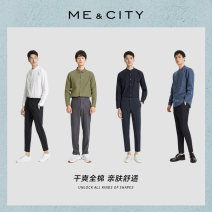 shirt Fashion City Me&City routine stand collar Long sleeves Self cultivation daily summer teenagers Cotton 98% polyurethane elastic fiber (spandex) 2% Exquisite Korean style Summer of 2018 No iron treatment cotton Same model in shopping mall (sold online and offline) More than 95%