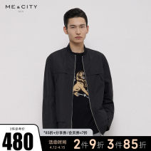 Jacket Me&City Fashion City Black beige beige presale 1 Black presale 1 165/88A 170/92A 175/96A 180/100A routine easy Other leisure Four seasons Polyester 100% Long sleeves Wear out stand collar youth routine Closing sleeve Color block Spring 2021 Color matching polyester fiber More than 95%