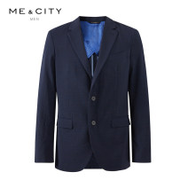 man 's suit Dark blue at night Me&City Business gentleman routine 165/88A 170/92A 175/96A 180/100A 185/104B 190/108B Wool 48% polyester 48% polyurethane elastic fiber (spandex) 4% Summer of 2019 standard Double breasted go to work Double slit Same model in shopping mall (sold online and offline)