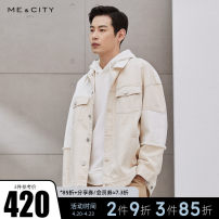 Jacket Me&City Fashion City Beige group Beige group presale 1 165/88A 170/92A 175/96A 180/100A routine easy Other leisure Four seasons Cotton 100% Long sleeves Wear out Lapel youth routine Single breasted Closing sleeve Color block Spring 2021 Color matching cotton More than 95%