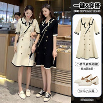 student uniforms Summer of 2019 Black and white S M L XL Long sleeves Korean version 18-25 years old Katysan polyester Polyester 80% other 20% Pure e-commerce (online only)