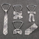 necktie Fried snow flat angle necktie, fried snow small long handle bow tie, fried snow double-layer necktie, fried snow free tie, fried snow hand tie, fried snow rabbit ear bow tie lattice leisure time bySMNeup