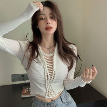 Wool knitwear Summer 2021 Average size White black army green Long sleeves singleton  Socket other More than 95% have cash less than that is registered in the accounts Thin money commute Self cultivation V-neck routine Solid color Socket Korean version M1010 18-24 years old Qingqing leisurely