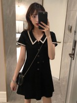 Dress Summer 2020 black S M L XL Mid length dress singleton  Short sleeve commute Crew neck High waist Solid color other other other Others 18-24 years old Poetry remembers imperial concubine Korean version S18CW5631 More than 95% other Other 100% Pure e-commerce (online only)