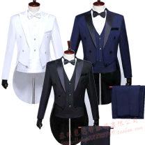Suit Fashion City ANDY YUENG Black, blue, white S,XL,L,M,XXL,XXXL routine Baling collar Back middle slit Four seasons Self cultivation A single breasted button wedding 2018 Splicing nylon