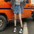 skirt Summer 2020 XS S M L XL Blue (including thin lining) black (including thin lining) Short skirt Versatile High waist Denim skirt Type A 127xc More than 95% Denim Xiao Chun cotton Cotton 98% other 2%