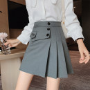 skirt Spring 2021 S,M,L,XL White, black, blue Short skirt commute High waist A-line skirt Solid color Type A 25-29 years old 31% (inclusive) - 50% (inclusive) Other / other Asymmetric, zipper Korean version