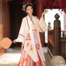 Hanfu 96% and above A hundred fold skirt on the sleeves S M L XL polyester fiber