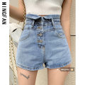 Jeans Summer 2021 Black grey blue S M L shorts High waist Straight pants Thin money 18-24 years old Make old wash zipper button Multi Pocket light colour MF3351 Famous model (clothing) Other 100% Pure e-commerce (online only)