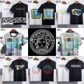 T-shirt Youth fashion 8524 white, 8524 black, 8545 white, 8545 black, 8543 white, 8543 black, 8539 white, 8539 black, 8529 white, 8529 black, 8518 white, 8518 black routine M,L,XL,2XL,3XL Others Short sleeve Crew neck easy Other leisure summer youth routine tide Geometric pattern printing cotton