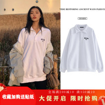Sweater / sweater Spring 2021 White Lapel letter sweater [with cashmere], white Lapel letter sweater [without cashmere], black Lapel letter sweater [without cashmere] Average size Long sleeves routine singleton  routine stand collar easy 18-24 years old 96% and above Other / other cotton cotton