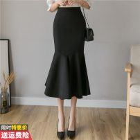 skirt Winter of 2019 S M L XL 2XL 3XL Black red Mid length dress commute High waist skirt Solid color 30-34 years old GT-6F-621-B-2017 More than 95% other Princess Daixiang other Three dimensional decoration Korean version Other 100% Pure e-commerce (online only)