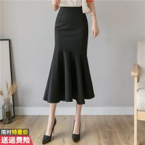 skirt Winter of 2019 S M L XL 2XL 3XL Black red Mid length dress commute High waist skirt Solid color 30-34 years old GT-6F-621-B-2014 More than 95% other Princess Daixiang other Three dimensional decoration Korean version Other 100% Pure e-commerce (online only)