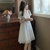 Dress Summer 2021 Picture color S M L XL Middle-skirt singleton  Short sleeve commute Doll Collar High waist Solid color Socket A-line skirt routine Others 18-24 years old Type A Ming Meiting Korean version 3#331#578 More than 95% other other Other 100% Pure e-commerce (online only)
