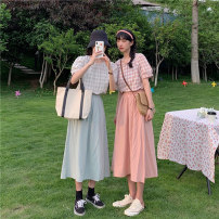 Fashion suit Summer 2021 S M L XL Pink shirt green shirt pink skirt green skirt pink suit green suit 18-25 years old Ming Meiting 1#38#371 96% and above cotton Other 100% Pure e-commerce (online only)
