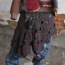 Scarf / silk scarf / Shawl cotton Brown with tie rope, black with tie rope, other colors with tie rope