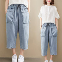 Women's large Summer 2020 wathet Jeans singleton  commute easy thin Korean version Naizi 30-34 years old 91% (inclusive) - 95% (inclusive) Other 100% Pure e-commerce (online only)