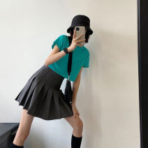 skirt Summer 2021 S M L Basic black - recommend to buy college grey for thin waist - recommend to buy college grey for thin waist Short skirt commute High waist Pleated skirt A4564 More than 95% John Ratzenberger  other Other 100% Pure e-commerce (online only)