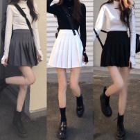 skirt Summer 2021 S M Dark gray white black Short skirt High waist A-line skirt Type A 18-24 years old A4480 More than 95% John Ratzenberger  other Other 100% Pure e-commerce (online only)