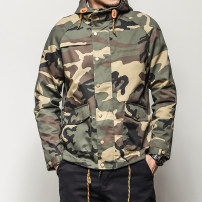Jacket Eighteen nineteen Youth fashion Camouflage S M L XL 2XL 3XL 4XL 5XL routine standard Travel? Four seasons W1638 Polyester 80% cotton 20% Long sleeves Wear out Hood tide youth routine Single breasted Cloth hem No iron treatment Loose cuff camouflage Spring of 2018 More than two bags) cotton