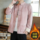 Jacket Sage lizard Fashion City Black, yellow, pink XL,L,M,4XL,5XL,XXL,XXXL Plush and thicken easy Other leisure winter Long sleeves Wear out stand collar Chinese style youth routine Single breasted 2020 Cloth hem No iron treatment Loose cuff Solid color Deerskin velvet Embroidery acrylic fibres