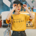 T-shirt White yellow royal blue lotus root powder grey blue purple S M L XL Spring of 2019 Short sleeve Crew neck Self cultivation Regular routine commute cotton 96% and above 18-24 years old Korean version originality Cartoon animation Mo Xiaoxi NT20082 Cotton 100% Pure e-commerce (online only)