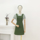 Dress Summer 2021 Green, red, blue S, M Short skirt singleton  Sleeveless commute square neck middle-waisted Solid color zipper other routine straps Type A Korean version 30% and below other other