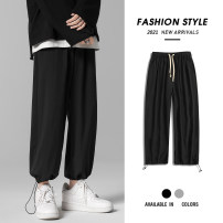 Casual pants Time Lulu Youth fashion S M L XL 2XL 3XL thin trousers Travel? easy Micro bomb summer youth tide 2021 middle-waisted Little feet Polyester 97% polyurethane elastic fiber (spandex) 3% Sports pants Pocket decoration washing Solid color Fine canvas polyester fiber Summer 2021 More than 95%