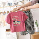 suit Menger Beibei 90cm,100cm,110cm,120cm,130cm,140cm neutral summer Korean version Short sleeve + pants 2 pieces Thin money No model Socket nothing Cartoon animation cotton children Chinese Mainland Zhejiang Province
